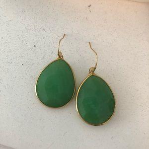 stella and dot jade drop earrings